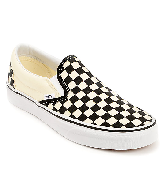 vans black and white. vans black \u0026 white checkered slip on canvas skate shoes (womens) and