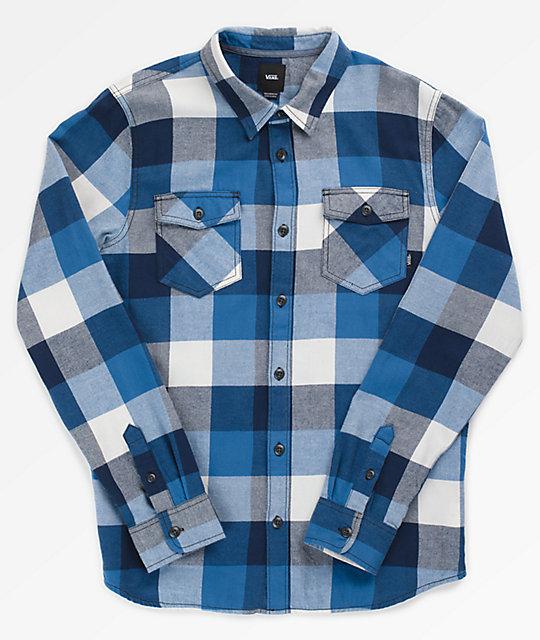 Vans Box Blue White Flannel Shirt