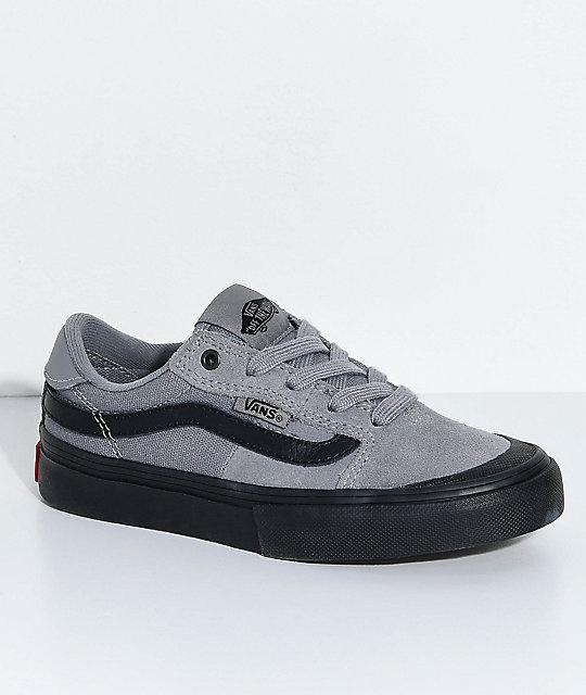 vans 112. vans boys 112 gunmetal \u0026 black skate shoes