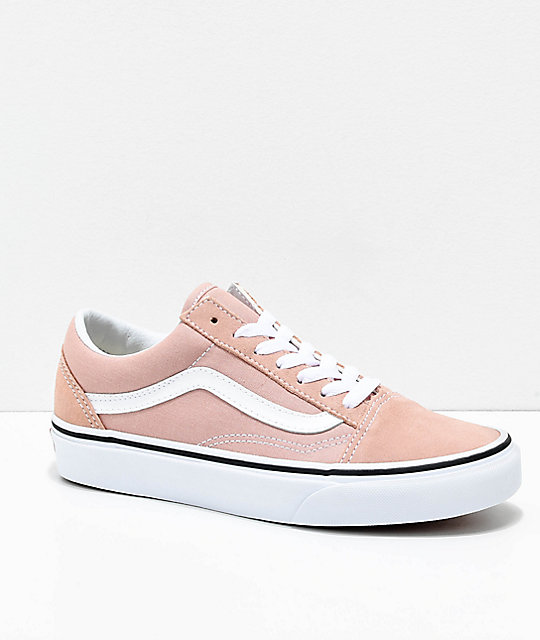 Vans Old Skool Mahogany Rose U0026 True White Skate Shoes
