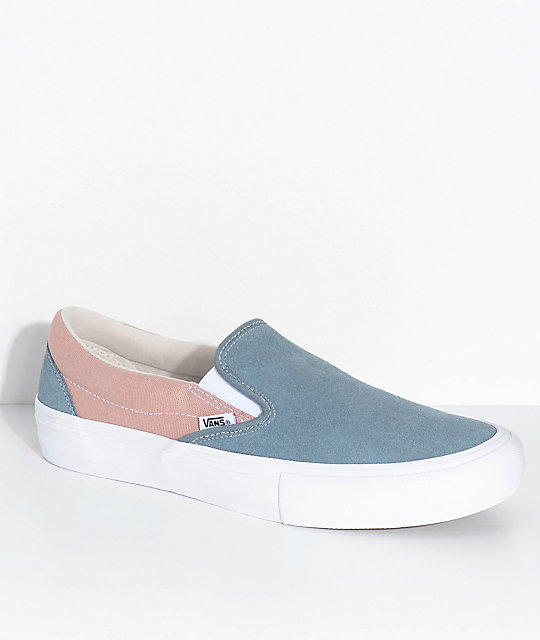 Vans Slip-On Pro Goblin Blue U0026 Mahogany Rose Skate Shoes