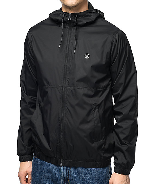 Ermont Black Windbreaker Jacket