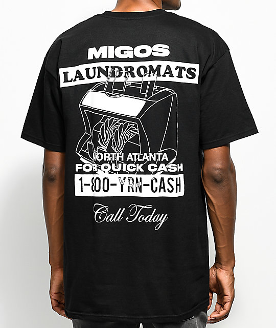 Yrn migos laundromats black t shirt for T shirt by migos