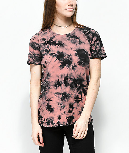Zine rayna old rose tie dye t shirt for Order tie dye roses online