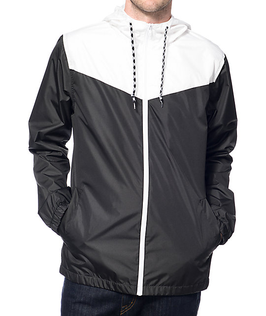 Sprint White & Black Windbreaker Jacket