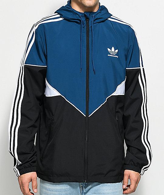 Adidas Premier Black Blue U0026 White Jacket