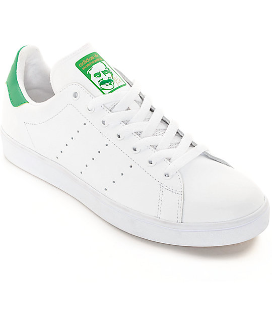 adidas Stan Smith White \u0026 Green Shoes