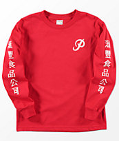 Primitive x Huy Fong Boys Long Sleeve Red T-Shirt