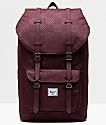Herschel Supply Co. Little America Plum Dot Check Backpack