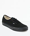 Vans Authentic Black Canvas Skate Shoes