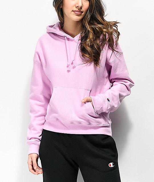 light purple champion hoodie