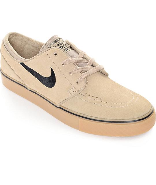estilos de moda primer nivel duradero en uso Nike SB Zoom Stefan Janoski Khaki, Black, & Gum Skate Shoes ...