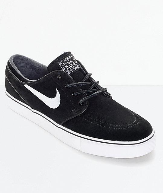 Nike SB Zoom Stefan Janoski OG Black \u0026 White Skate Shoes | Zumiez.ca
