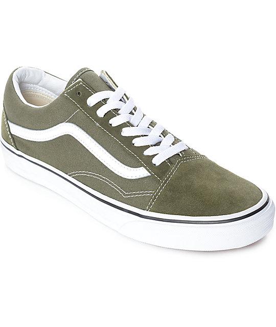 vans old skool green