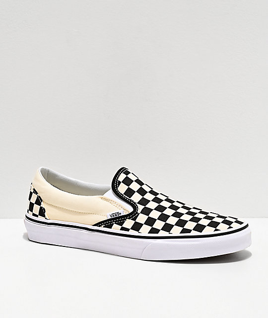black white checkered vans