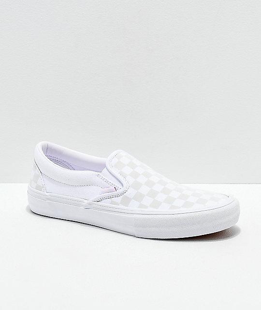 grey and white checkered vans