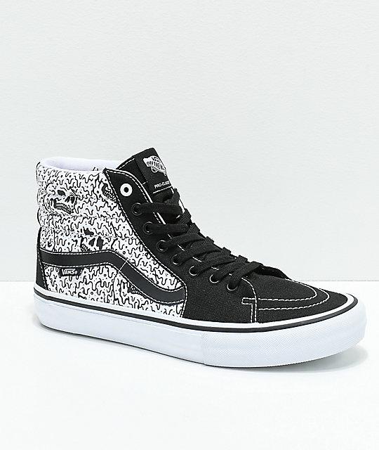 black and white vans zumiez