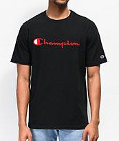 Champion Heritage Embroidered Script Black T-Shirt