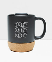 Obey Jumble Stacks Black & Cork Mug