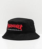 Thrasher Godzilla Black Bucket Hat