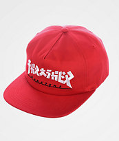 Thrasher Godzilla Red Snapback Hat